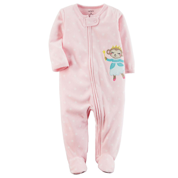 Carters Baby Girl Fleece Zip Up Sleep   Play Pink 79b9cb2e1